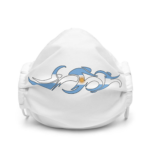 Argentina Swim Bike Run Triathlon Face Mask Front View