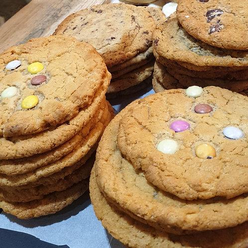 Chocolate chip & Smarties cookies