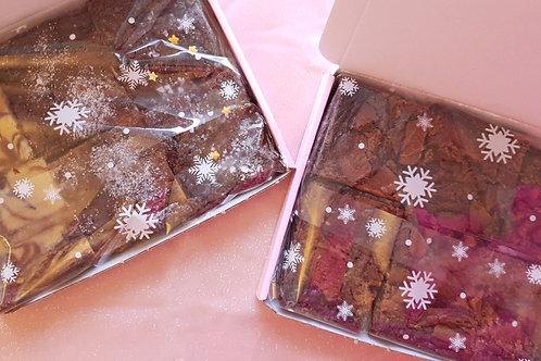 Fudgy Chocolate Postal brownies