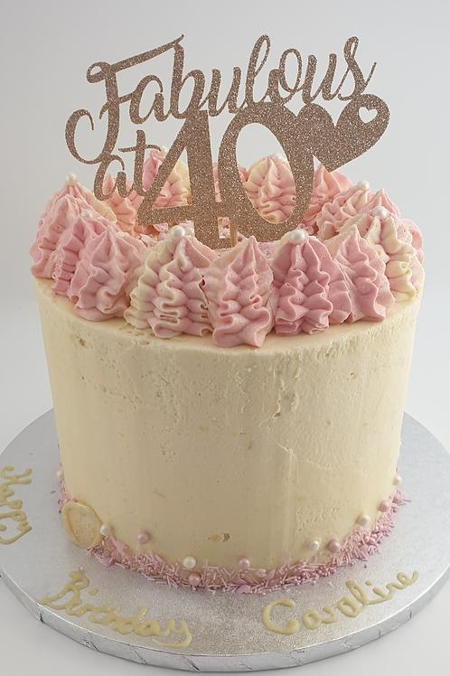 LEMON & WHITE CHOCOLATE CELEBRATION CAKE
