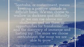 2.2. Niyama: Santosha  - Contentment