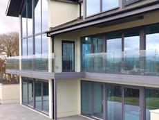 Frameless glass balustrades for modern balcony