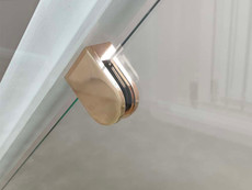 Rose gold clamps for glass balustrades