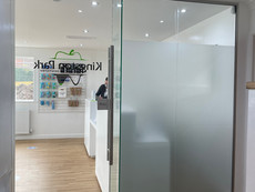 Glass partitions and frameless glass door