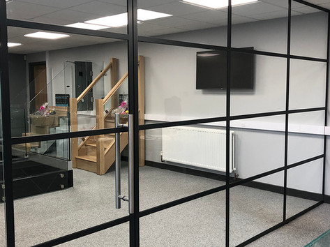 Steel framed doors and partitions