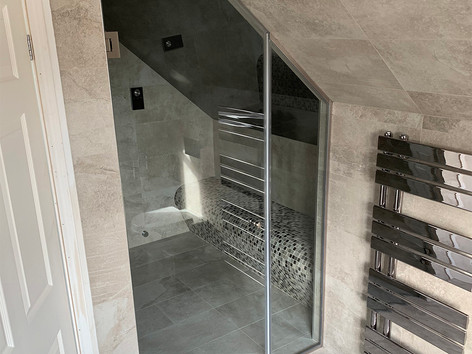 Glass shower door cut to size