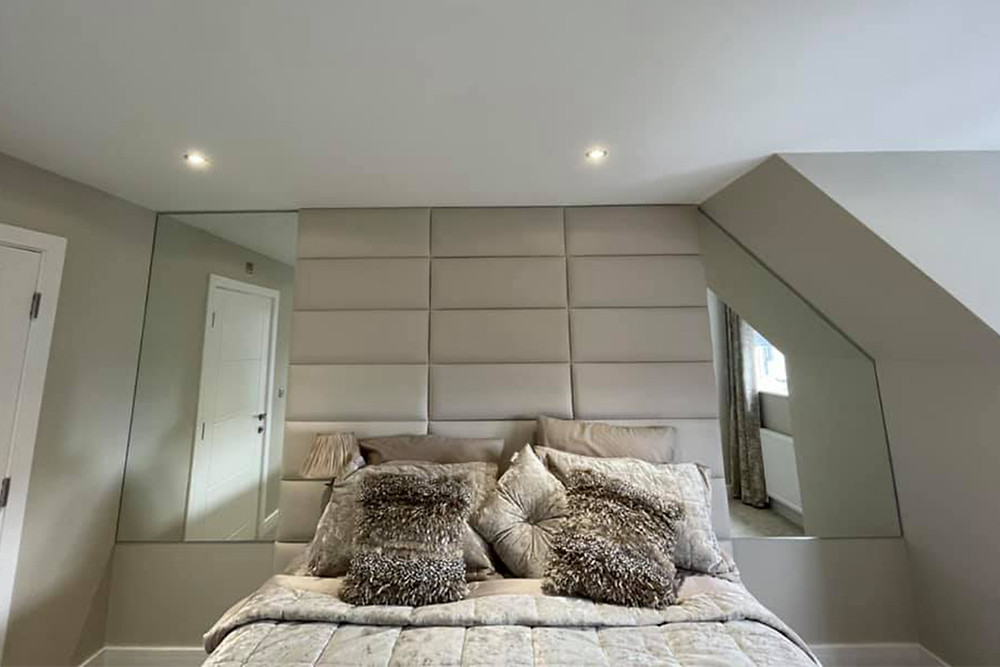 large wall mirrors made to measure for bedroom with sloped ceiling