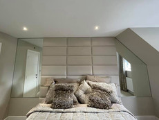Large wall mirrors made to measure for bedroom