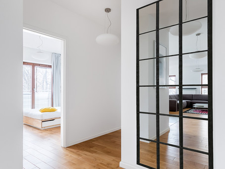 Window pane mirrors: Why we love the look of custom black panel mirrors