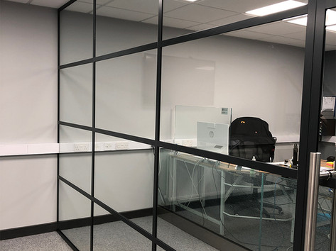 Steel frame partitions