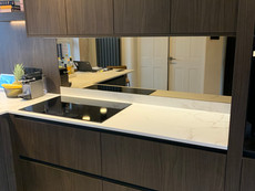 Mirrored kitchen splash backs