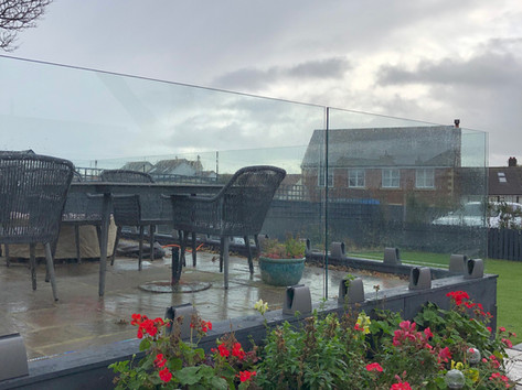 Glass balustrades for gardens