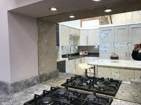 Mirror splashbacks for kitchens
