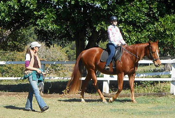 Suzy from Happy Horses Bitless giving a bitless riding lesson