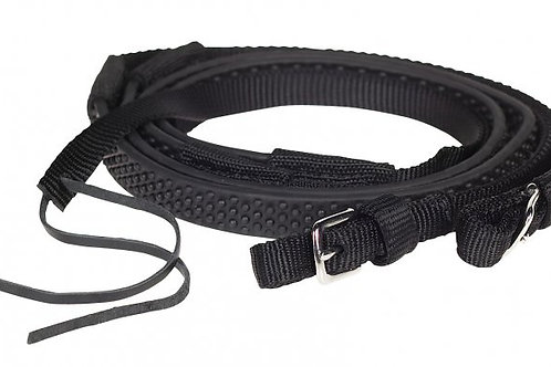 NYLON RUBBER GRIP REINS