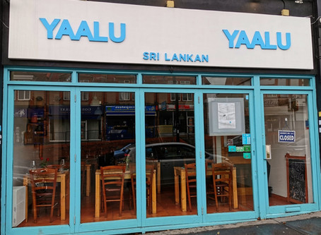 Yaalu Yaalu, a Sri Lankan Restaurant with Food that belies it's modest exterior.