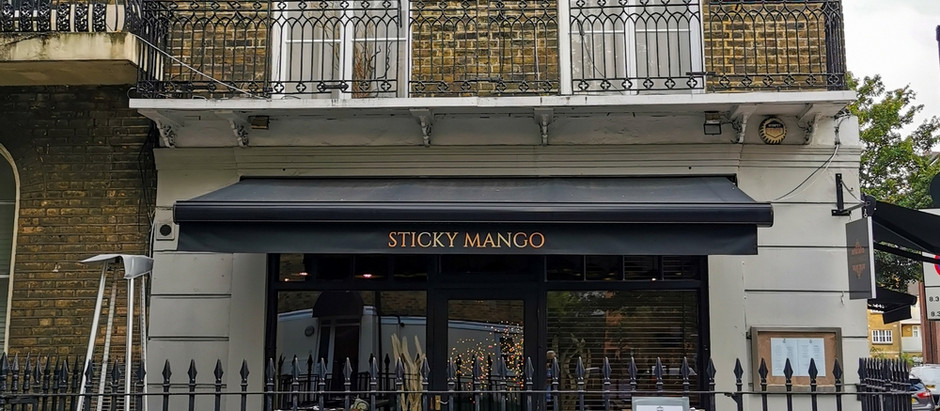 Sticky Mango, our first trip back up town