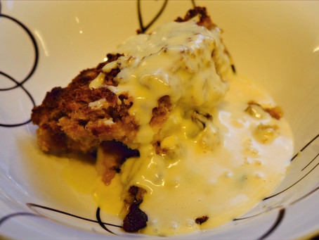 The original Eve's Pudding in all it's hearty glory! And a video tutorial.