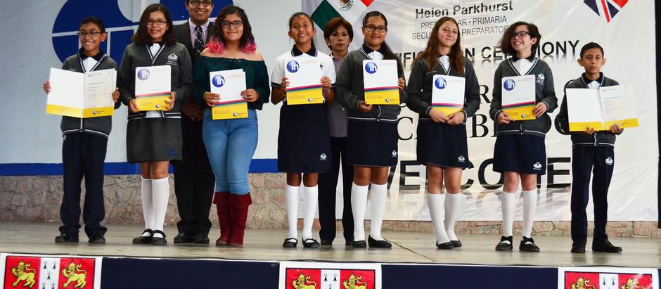Universidad de Cambridge certifica inglés de estudiantes de Colegio Helen Parkhurst