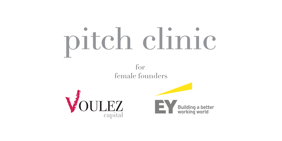 Voulez & EY Pitch Clinic for Female Founders