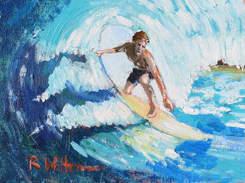 """Feeling the Ride"" original painting"