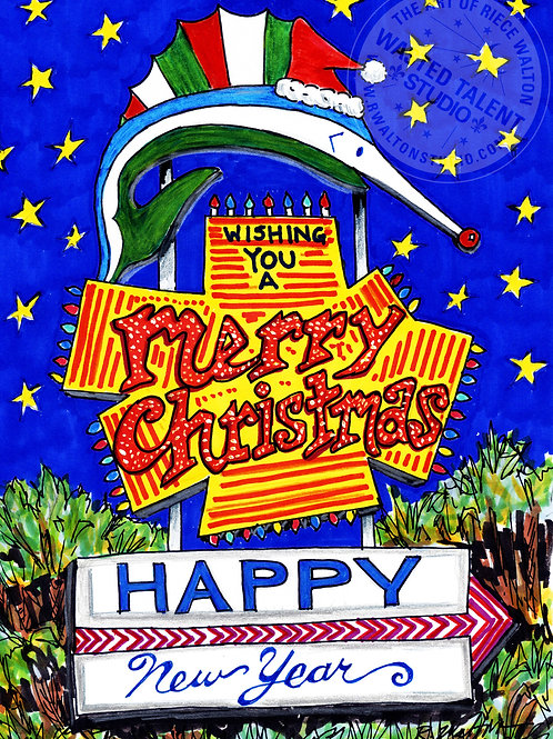 'Christmas in Paradise' 12 card set