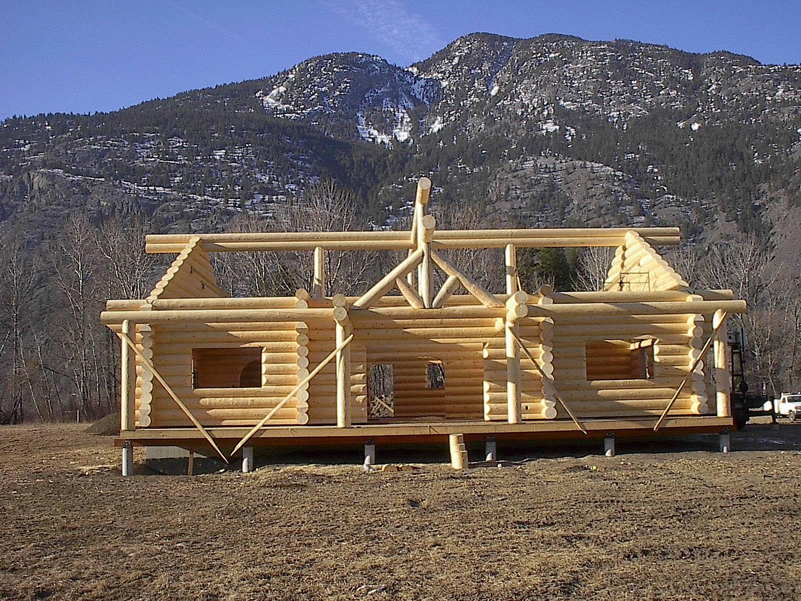 Homes log cabins log siding mill direct E log siding