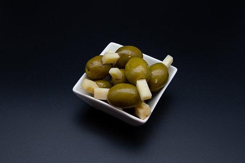 Grüne Oliven mit Parmesan (200g)