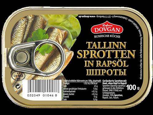 Geschälte Sprotten in Pflanzenöl (160 g)