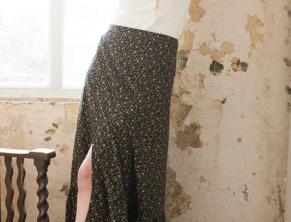 Spring Flower Wrap Skirt