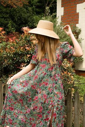 ladies fashion summer dress green wildfl