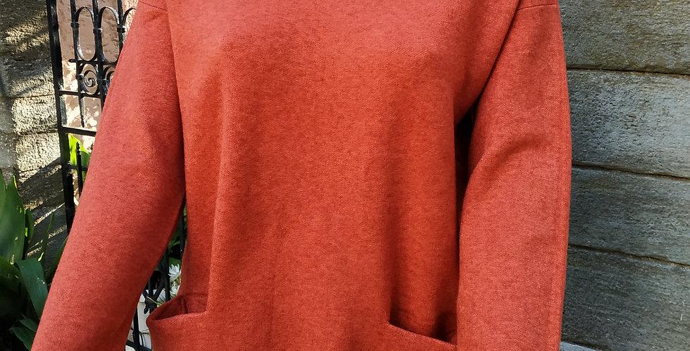 Μπλούζα  μακρυμάνικη χοντρή πορτοκαλί
