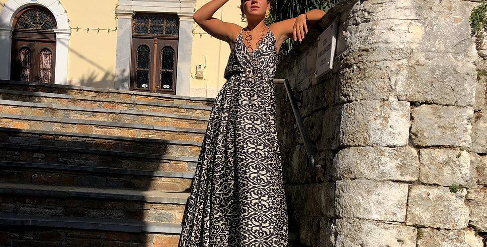 Φόρεμα μάξι ασπρόμαυρο