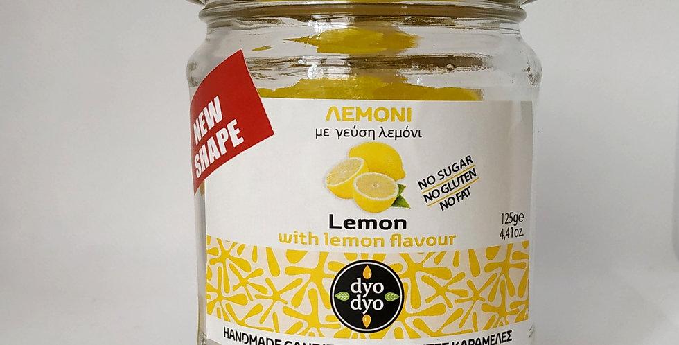 """Χειροποίητες καραμέλες """"dyo dyo"""" με λεμόνι"""