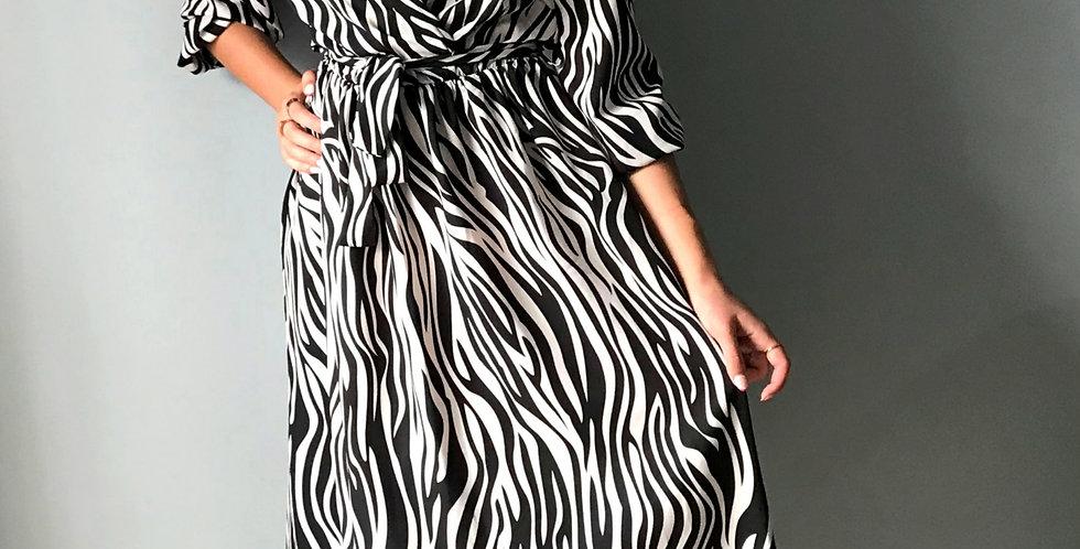 Φόρεμα μάξι σε ζεβρέ στυλ
