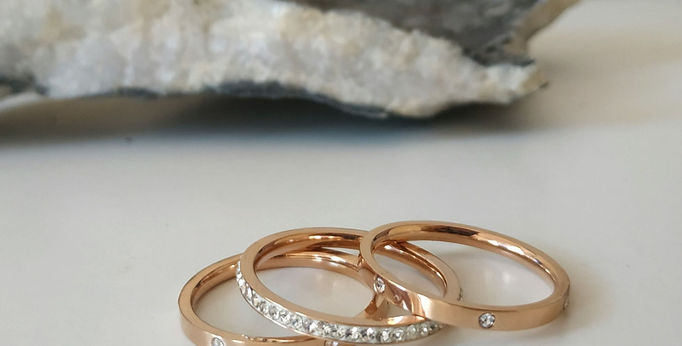 Δαχτυλίδι τριπλό με στρας
