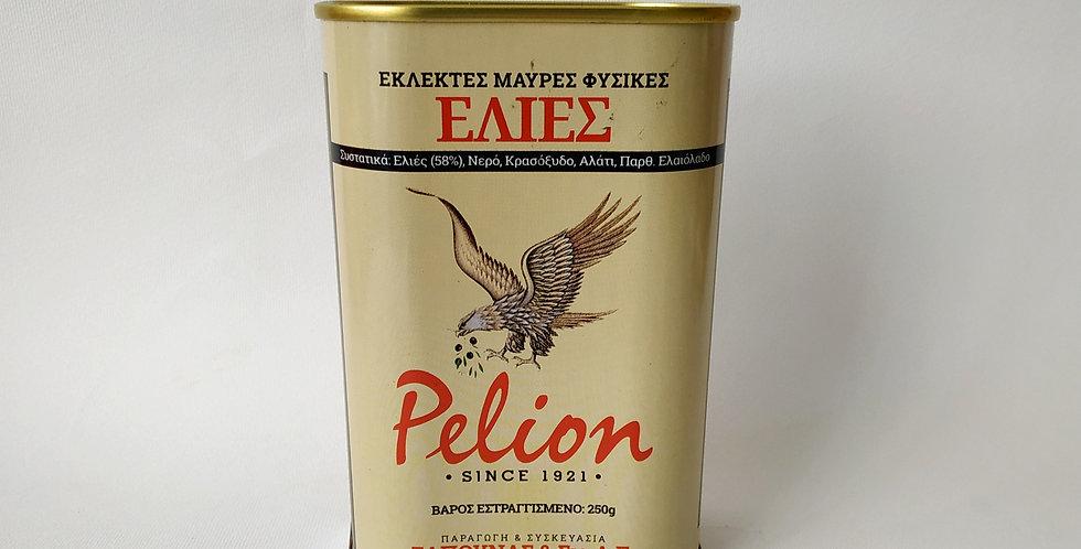 Εκλεκτές Μαύρες Φυσικές Ελιές Pelion