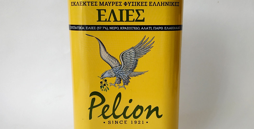 Εκλεκτές Μαύρες Φυσικές Ελληνικές Ελιές Pelion