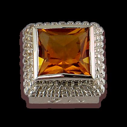 Square Gemstones Sterling Silver Bezel with Lavender Amethyst