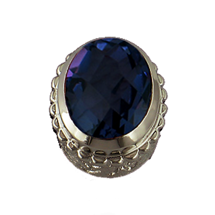 Oval Gemstones Sterling Silver Bezel with  Quartz Doublet Tanzanite