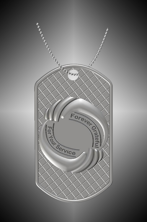 GK Cares Tag Pendant Sterling Silver