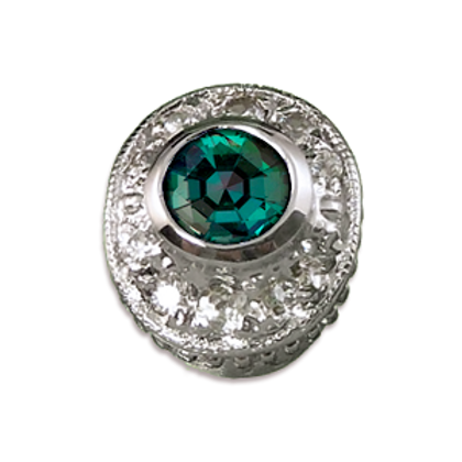 Oval Halo Collection Sterling Silver Bezel with Lab  Alexandrite & CZ