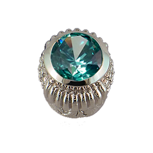 Oval Opaque & CZ Sterling Silver Bezel with CZ Mint