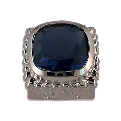Square Gemstones Sterling Silver Bezel with Iolite