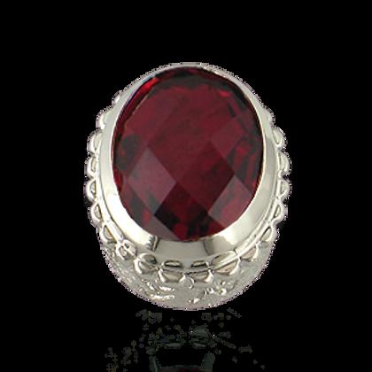 Oval Gemstones Sterling Silver Bezel with  Quartz Doublet Rubylite