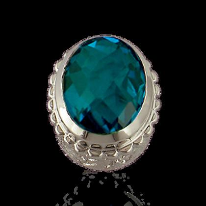Oval Gemstones Sterling Silver Bezel with  Quartz Doublet Pariba