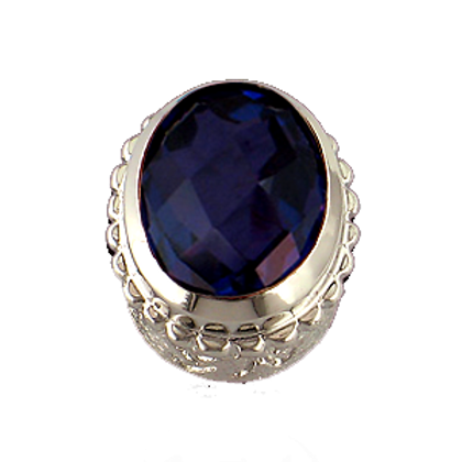 Oval Gemstones Sterling Silver Bezel with  Quartz Doublet Iolite