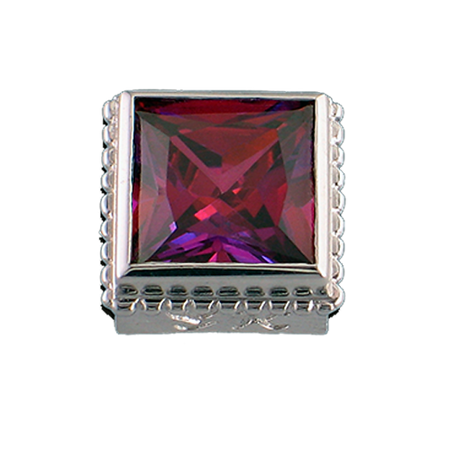 Square Opaque & CZ Sterling Silver Bezel with CZ Salsa