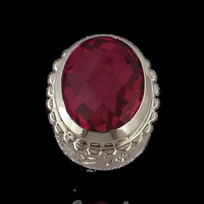 Oval Gemstones Sterling Silver Bezel with  Quartz Doublet Pink