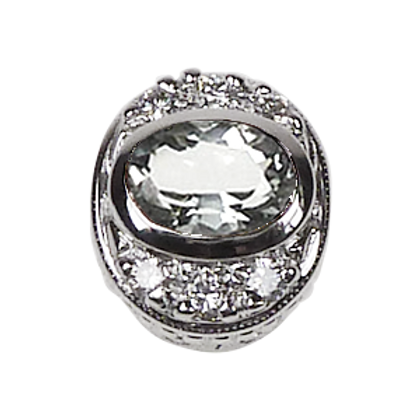 Oval Halo Collection Sterling Silver Bezel with Lemon Quartz